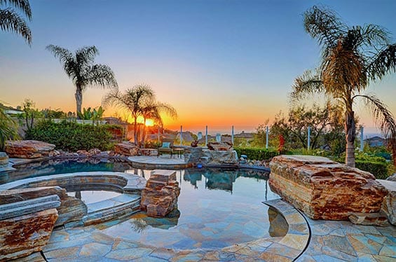 Sunset Backyard Pool Photography | 360 Virtual Tours | Aerial Drone Photography | Real Estate Photography Company