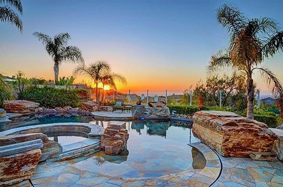 Sunset Backyard Pool Photography   360 Virtual Tours   Aerial Drone Photography   Real Estate Photography Company