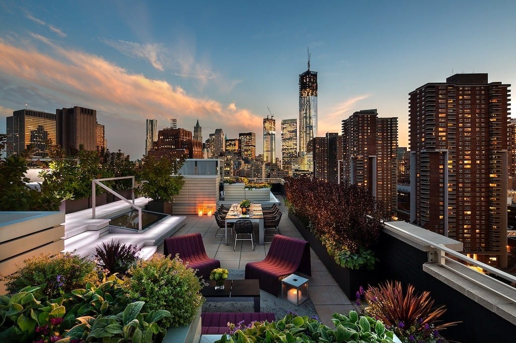 Rooftop Green Garden Multifamily Housing Photographer