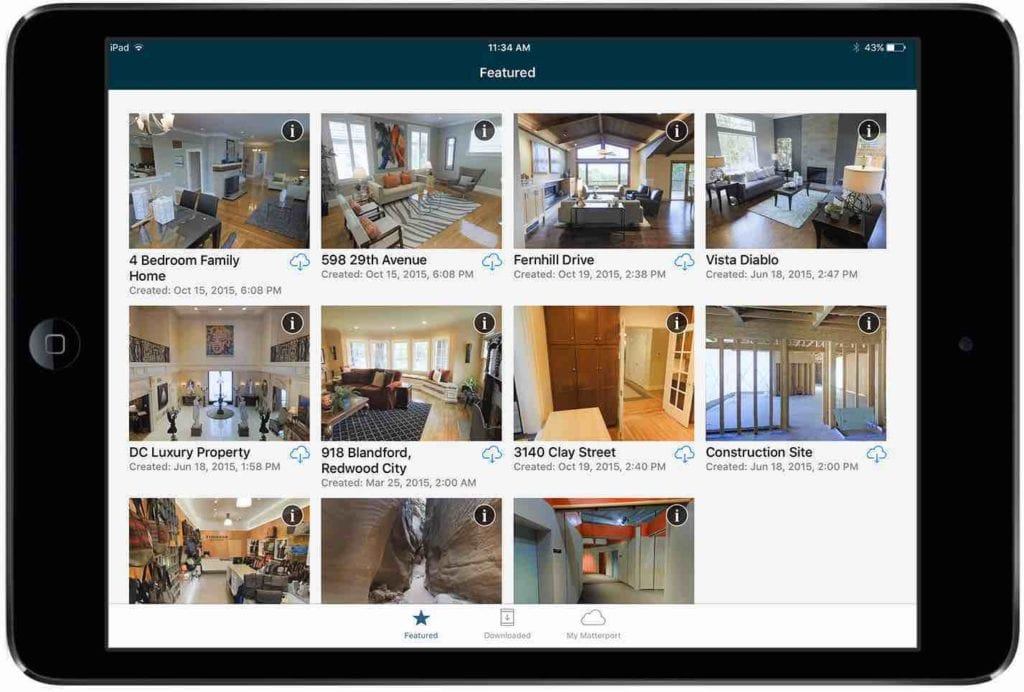 IOS Display Matterport 3D Showcases | 3D Tours | Immersive Virtual Reality 3D Tours
