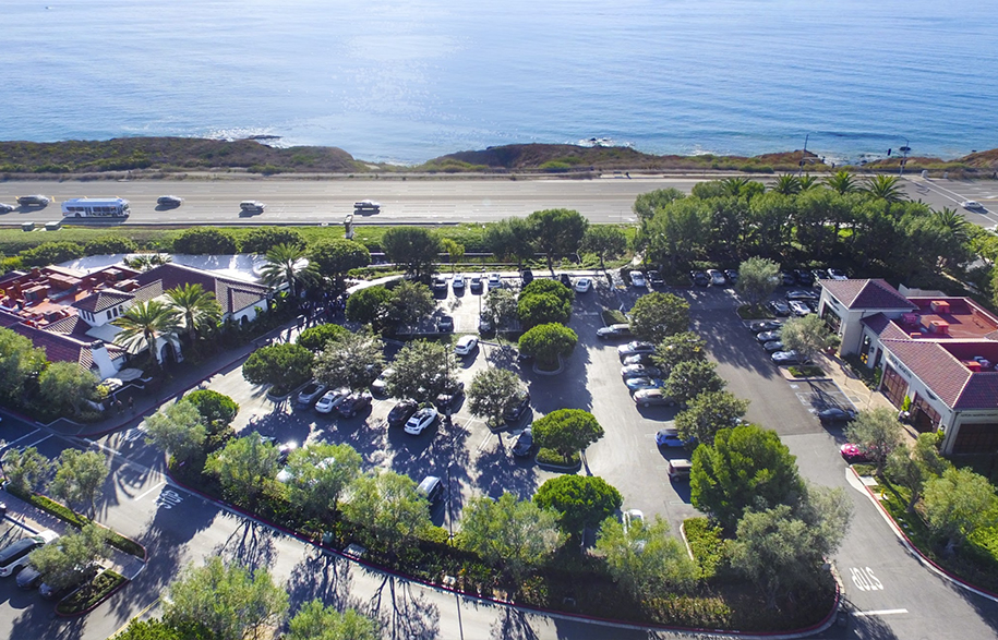 BAerial Photography Services Orange County Los Angeles | Crystal Cove Shopping Center